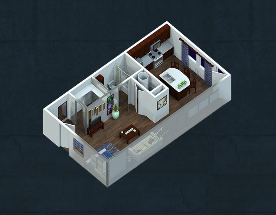One Bedroom Apartments Lubbock Part - 30: Studio Apartment
