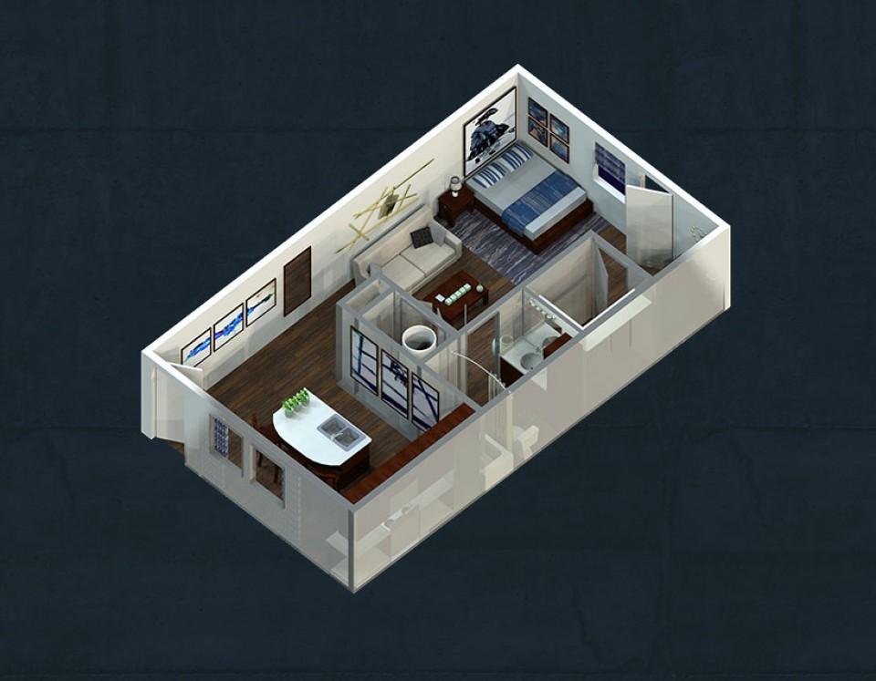 Attractive One Bedroom Apartments Lubbock Part - 8: Studio Apartment